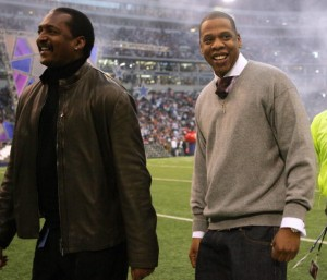 Matthew Knowles with son-in-law Jay Z