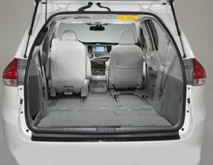 Toyotta Sienna XLE trunk interior