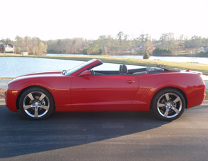 2011 Chevy Camaro convertible drop