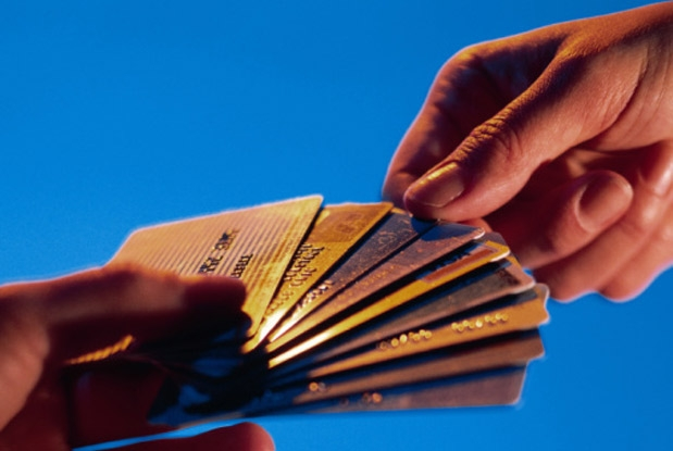 lot of credit cards, one getting selected