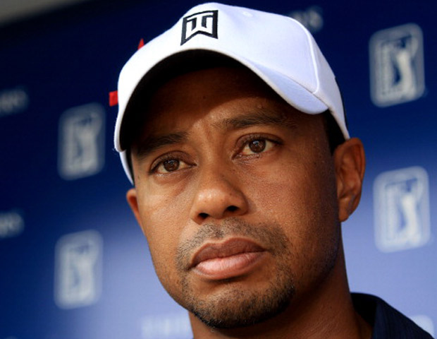 Pro golfer Tiger Woods at press conference