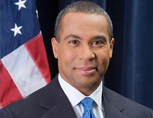 Governor Patrick Deval smiling