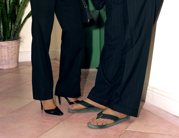 OPEN TOES---FOR MEN: Since women are allowed to wear open-toe shoes in ...