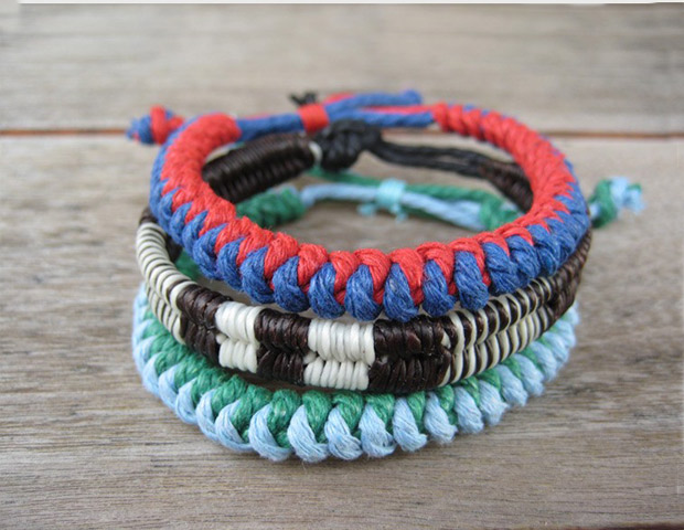 BURKMAN BROS. WOVEN BEACH BRACELETS 