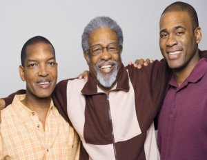 black family on fathers day