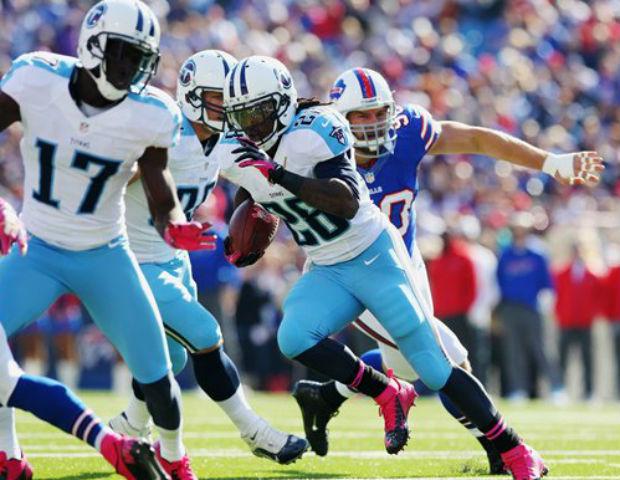 chris johnson running through tackles