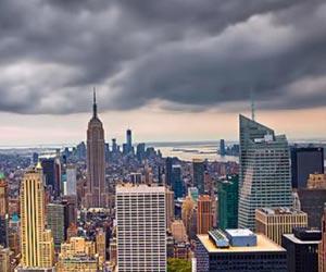 cloudy new york skies
