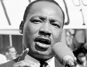Martin Luther King Jr, closeup shot