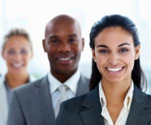 diverse company black white and latin