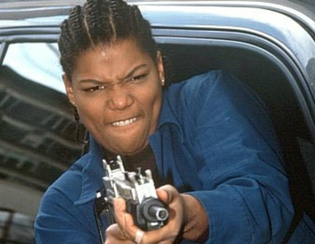 Queen Latifah blasts off in Set It Off.