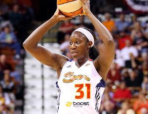 tina charles holding basketball