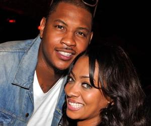 carmelo and lala anthony smiling