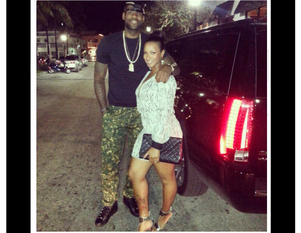 LeBrong James and his girlfriend