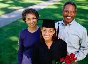 black parents at childrens graduation