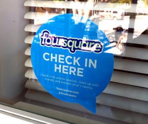 foursquare check in sign