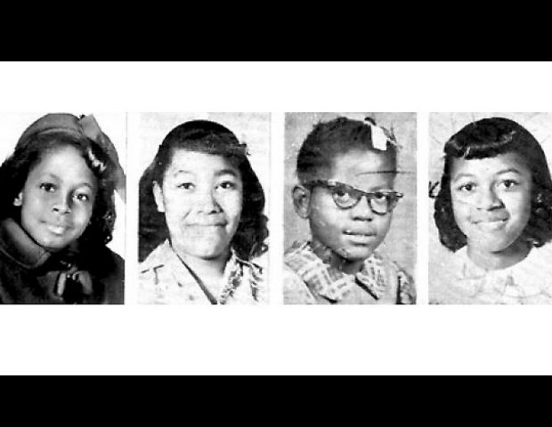 Addie Mae Collins, 14, Cynthia Wesley, 14, Carole Robertson, 14 and Denise McNair, 11.