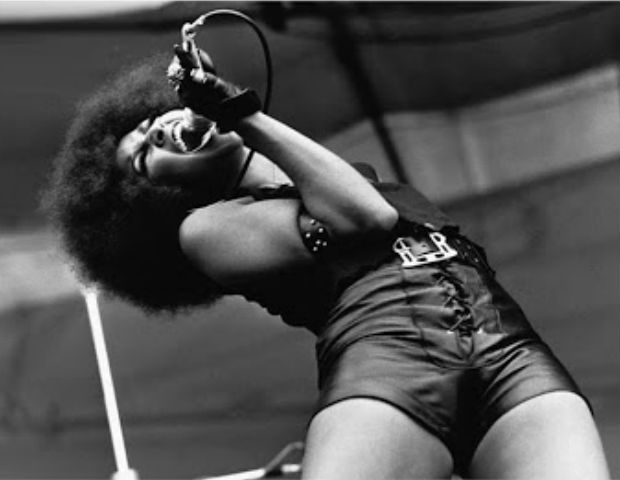 black girl singing