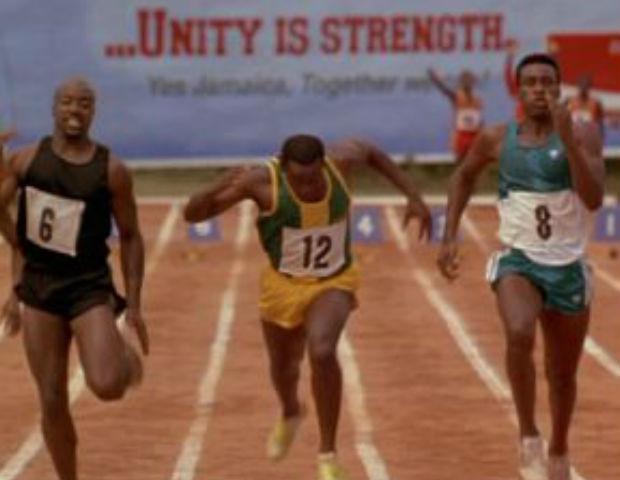 black track runners