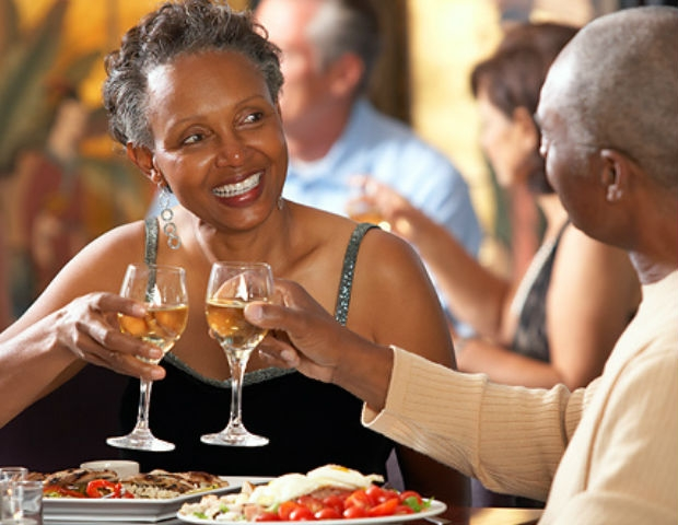 black people at dinner