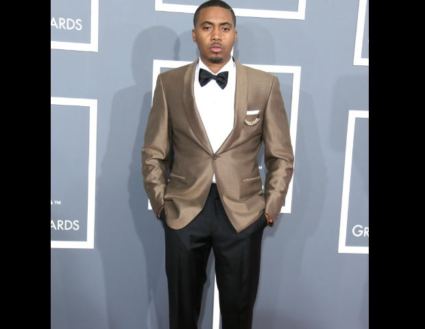 Nas attends the 55th Grammy's.