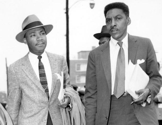 bayard rustin walking with mlk jr
