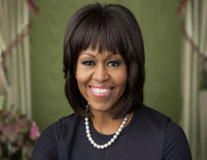 michelle obama 2nd term portrait
