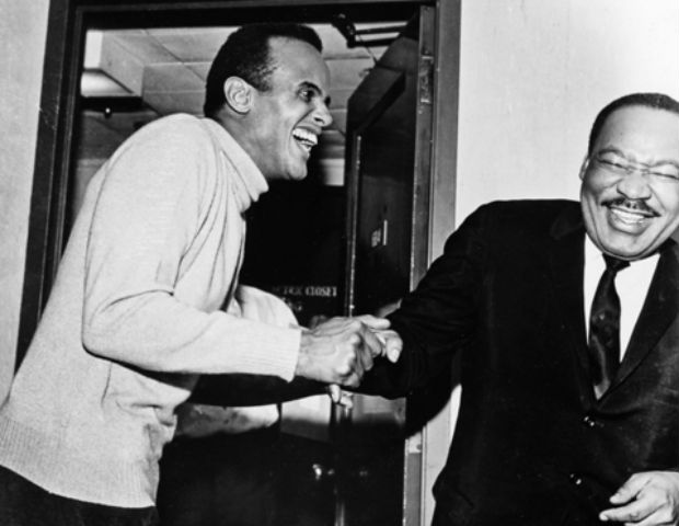harry belafonte mlk smiling