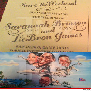 lebron james wedding invitation