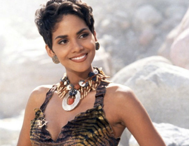 Halle Berry on set of The Flinstones
