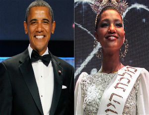 president obama and miss black israel