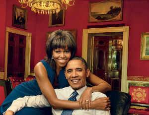 michelle obama and barack vogue 2013