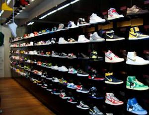 nike sneakers store shelf