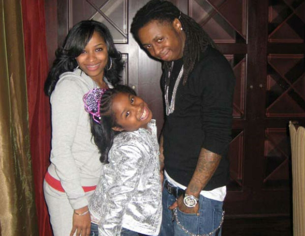 lil wayne and wife and daughter