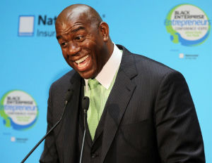 magic johnson smiling