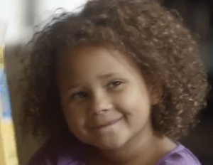 young biracial child in cheerios ad