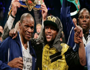floyd mayweather jr after guerrero fight with dad