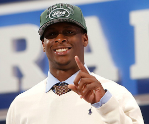 geno smith smiling on draft day