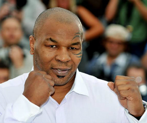 mike tyson with fists up