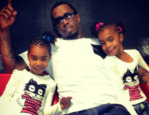 puffy and his twin daughter girls
