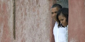 obamas at door of no return