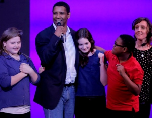 Denzel Washington Hosts Broadway Junior in NY