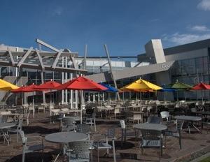 google campus umbrellas