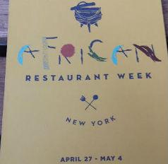 African Restaurant Week Menu