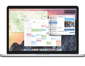 MacBook running OS X Yosemite