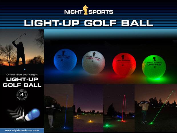 light up golf ball LED