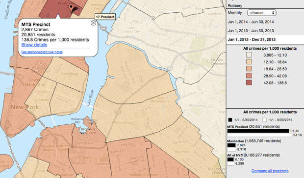 nyc crime map