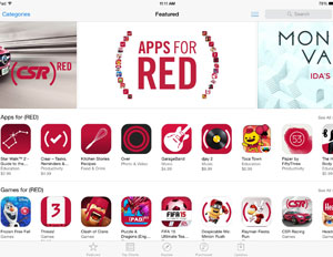 PRODUCT RED APP STORE ITUNES APPLE