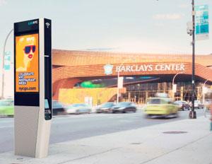 LinkNYC City Bridge Wi-fi link barclays center
