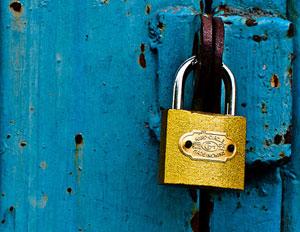 yellow lock blue door password