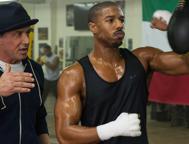 Still shot of Michael B. Jordan and Sylvester Stallone from movie 'Creed'